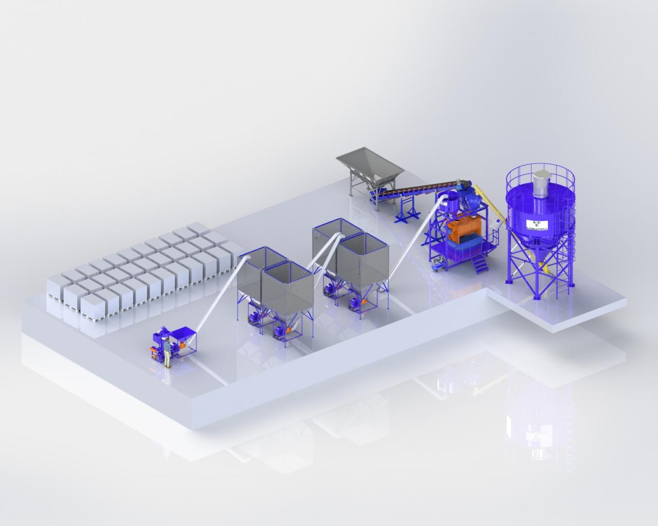 Автоматизированный завод по полистиролбетону «АЗПП-01»