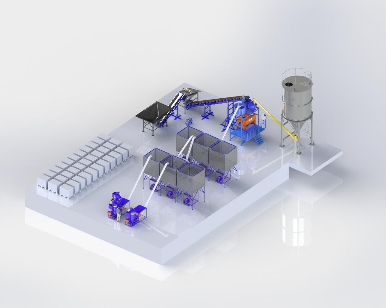 Автоматизированный завод по полистиролбетону «АЗПП-02»