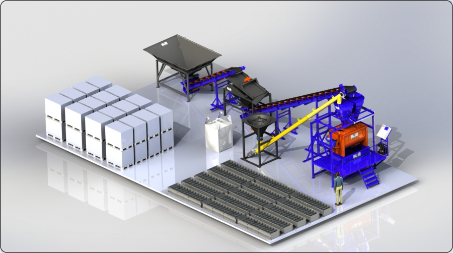 Автоматизированный завод по пенобетону «ПБЗ-01»