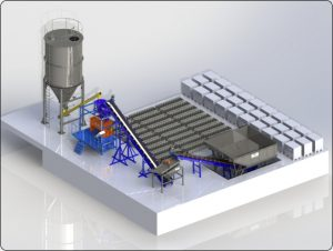 Автоматизированный завод по пенобетону «ПБЗ-02»