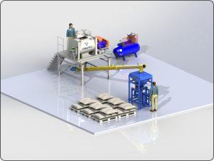 Мини завод по фасовке сухих смесей