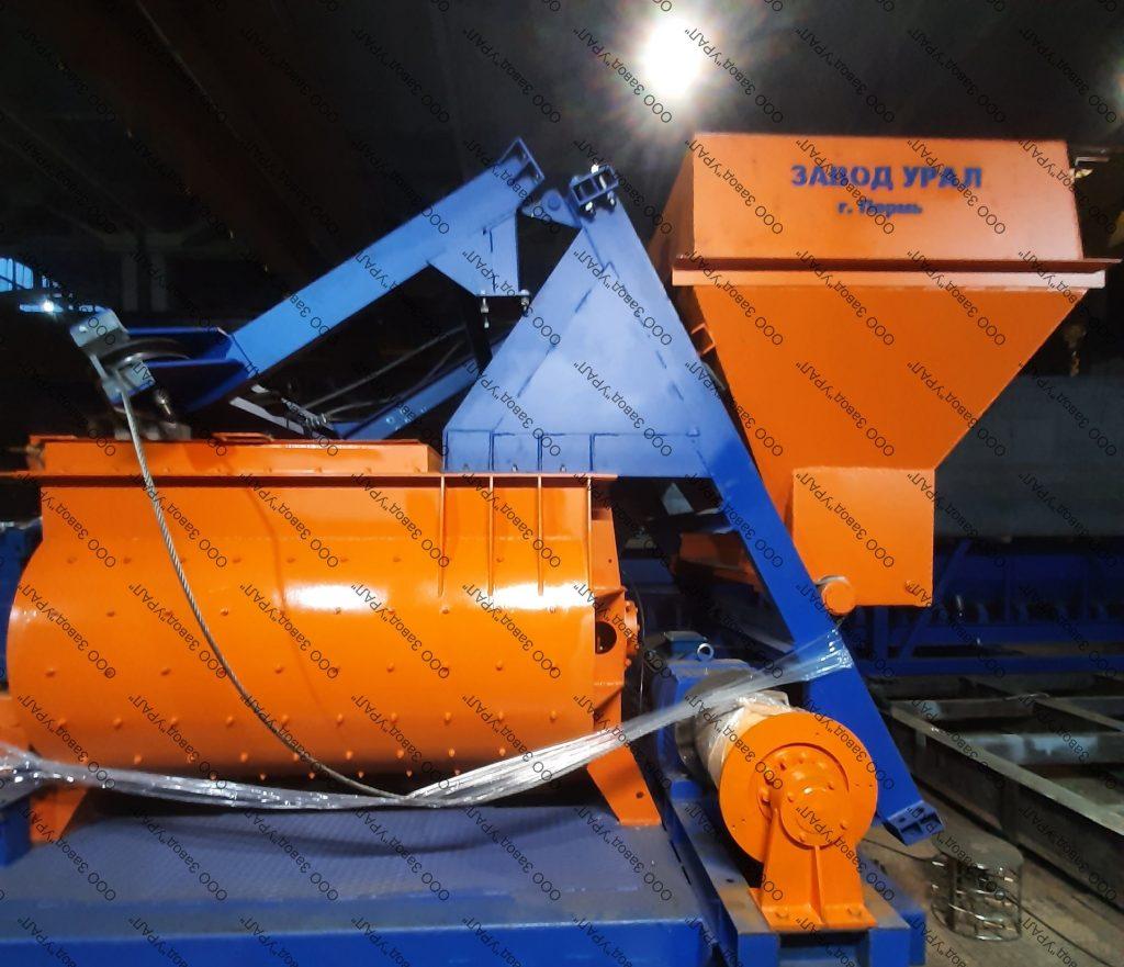 Двухвальный бетоносмеситель ДБС-1500