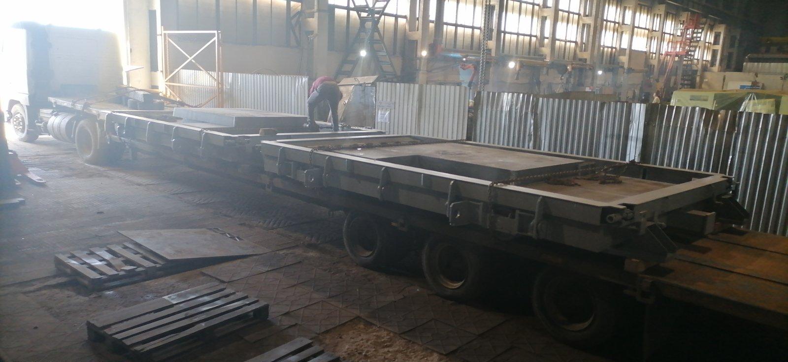 Отгрузка форм для бетонного завода АО СтройПанельКомплект